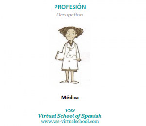 Spanish vocabulary: médica