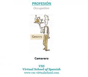 Spanish vocabulary: camarero