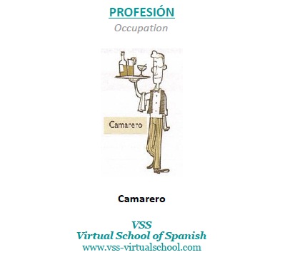 Spanish vocabulary: Camarero