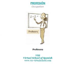 Spanish vocabulary: profesora