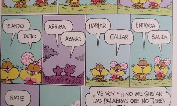 Spanish vocabulary: Humor de Gaturro – antónimos