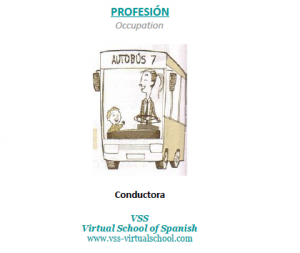 Spanish vocabulary: conductora