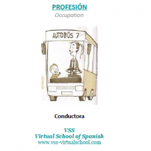 Spanish vocabulary: Conductora