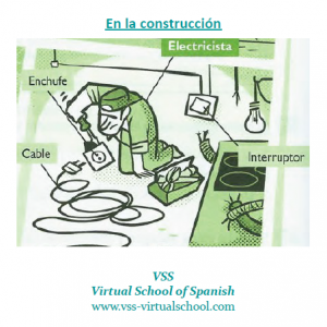 Spanish vocabulary: En la construcción – electricista