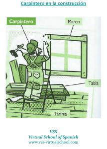 Spanish vocabulary: carpintero en la construcción