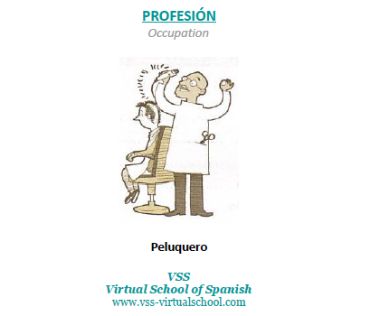 Spanish vocabulary: Peluquero
